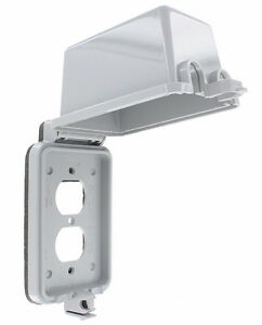 LEVITON VERTICAL MOUNTING RAIN TIGHT 5976-GY *NEW IN BOX*