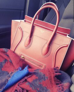 Celine - Mini Luggage - Burgundy