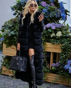 Faux Fox Fur Long Vest