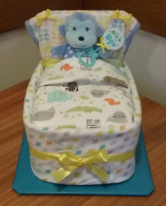 MONKEY  SMALL BED BABY BOY SHOWER GIFT