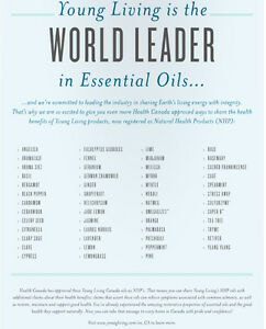 Young Living has over 50 products registered as Natural Health P Edmonton Edmonton Area image 1