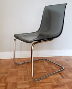 Ikea TOBIAS Chairs, gray, chrome plated (2 chairs)