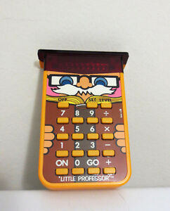 Vintage Little Professor Calculator Texas Instruments