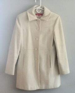 ANNE KLEIN IVORY WOOL FALL/WINTER PEA COAT - Excellent Condition Kitchener / Waterloo Kitchener Area image 1