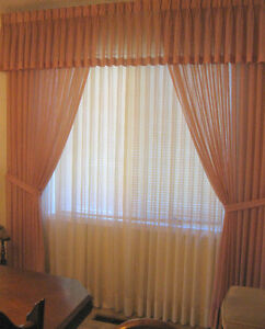 """Draperies: 50"""" length. Also 80 wide x 91 long. Matching cushions"""
