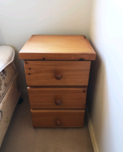 A pair of high quality wooden bedside tables