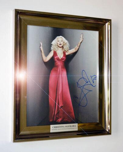 Rare CHRISTINA AGUILERA Signed Autograph, Frame, COA, UACC RD#228, DVD, DOLL MIB