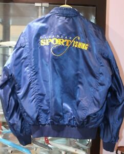 Vintage Canadian Sportfishing Association Satin Jacket.