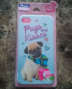 iPhone 4/4S Case/Cover - Pugs and Kisses - NEW