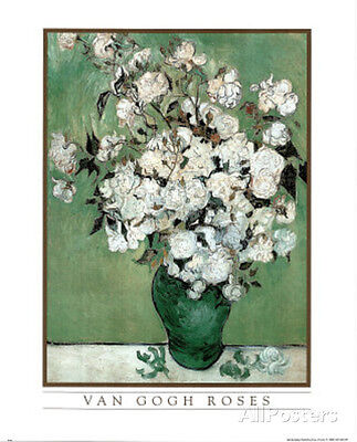 Vincent Van Gogh (Roses) Art Print Poster Poster Print, 13x19