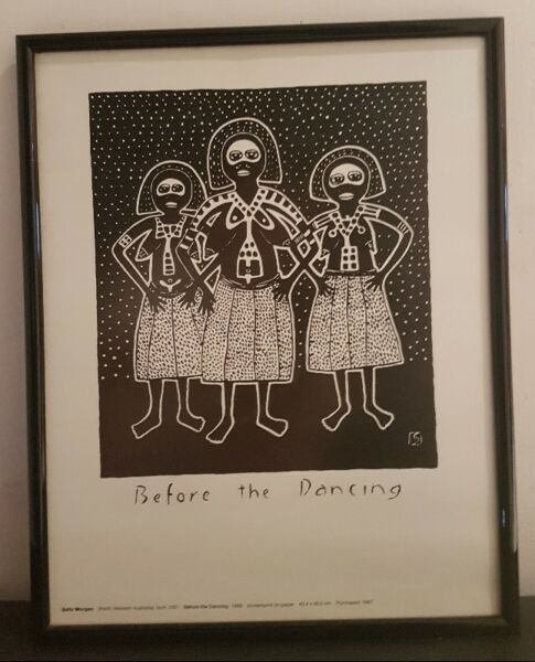 Black & White Painting Printing by Sally Morgan- Before the Dance