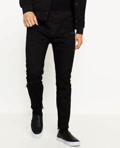 ZARA BRAND NEW Biker JEANS with front zips (with tags)