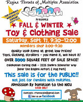 Regina Parents of Multiples Fall/Winter Used Toy & Clothing Sa