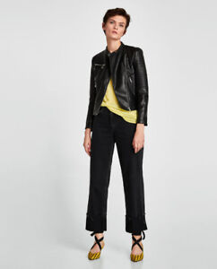 Zara Faux Leather Biker Jacket Womens XL- Sold out in stores