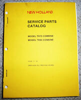 """NEW HOLLAND TR75 & TR85 COMBINE PARTS MANUAL """"NEW HUGE"""""""