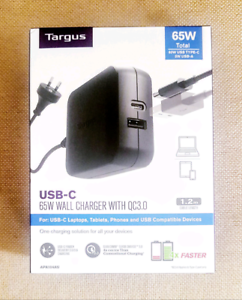 Targus 65W USB-C Wall Charger with Qualcomm Quick Charge APA104AU