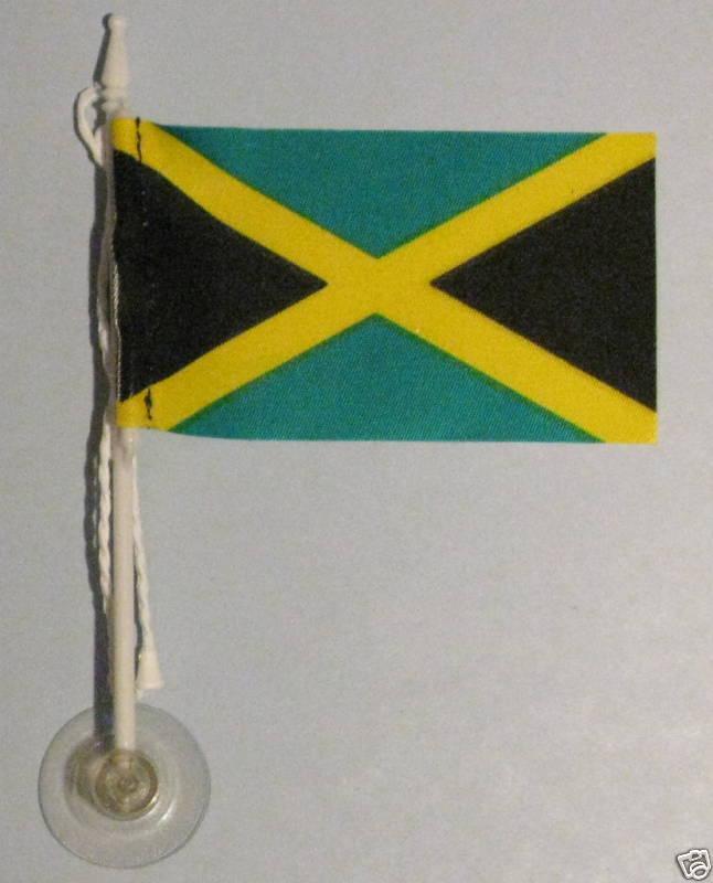 Jamaica MiniPole Car / Window Flag NEW