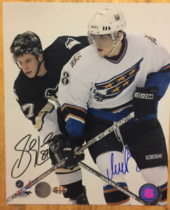SIDNEY CROSBY & ALEX OVECHKIN Double Autographed NHLHockey Photo