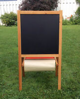 Wood Easel Blackboard/Whiteboard - Chevalet tableau noir/blanc