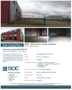 Great 10,170 sq.ft. Building in Leduc