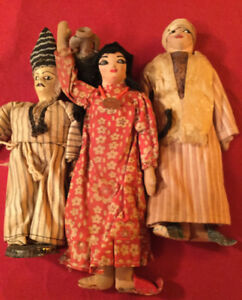 Vintage Middle Eastern Maiden Cloth Dolls in costume