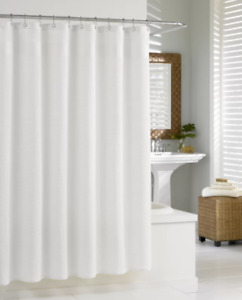 Two Quality Waffle Shower Curtain's - White