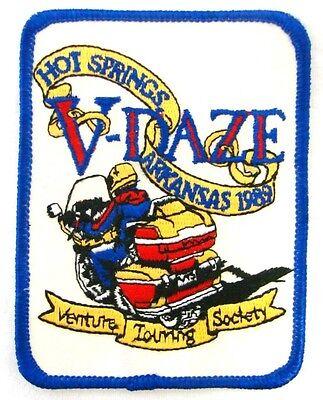 1989 Motorcycle Patch Vintage V-Daze Venture Touring Society Hot Springs AR