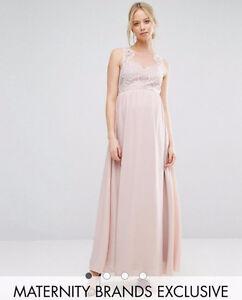 Chi Chi London Maternity Sweetheart Lace Bodice Maxi Dress