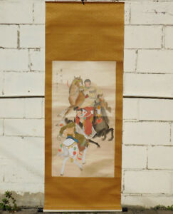 Original Chinese watercolor-on-silk painting scroll
