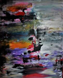 PEINTURE ABSTRAITE ABSTRACT PAINTING BY MONTREAL ARTIST! MILLA.