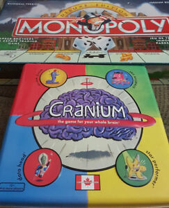 Cranium and Monopoly Games