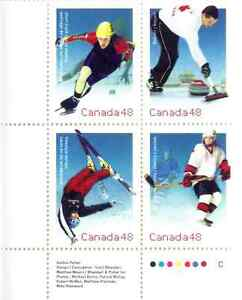 Canada Stamps - Olympic Winter Games 48c (2002) Scott 1936-1939