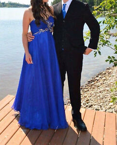 Prom dress and matching tie