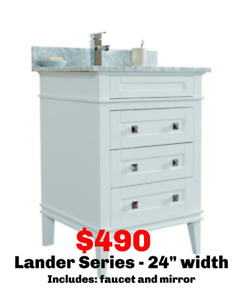 BATHROOM VANITIES - FULL SET - BLACK FRIDAY SALE