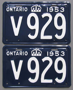 Classic Car YOM License Plates - Ministry Approval Guaranteed! Belleville Belleville Area image 4