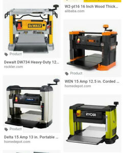 Wanted thickness planer
