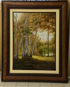 Birch Trees - Large Oil painting 4 feet W X 5 feet H