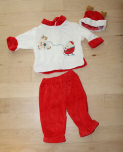 3-piece Christmas outfit, size 3 - 6 months, excellent condition