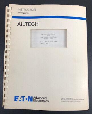 Ailtecheaton 1-500783-330 Instruction Manual For Controlled Input Unit Ciu-7