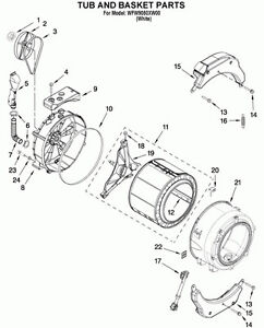 Wanted - Whirlpool Washer Spider Tub Support Assembley