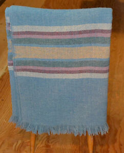 blue wool blanket 100% Cottage Craft of St. Andrews