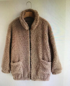 **** Brand New **** Fluffy Faux Fur Coat - Camel Brown S