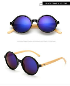 (NEW) Classic Retro Bamboo Wood Sunglasses Trend Setting Mirror