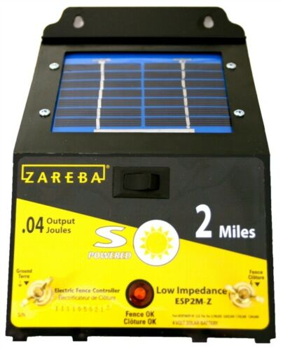 NEW Zareba Energizer ESP2M-Z 2-Mile Solar Powered Electric Fence Charger 6841308