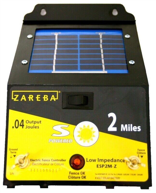 NEW Zareba Energizer ESP2M-Z 2-Mile Solar Powered Electric F