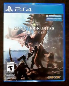 Monster Hunter World PS4 a vendre !!!