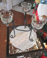 Wrought Iron-like tea light holder