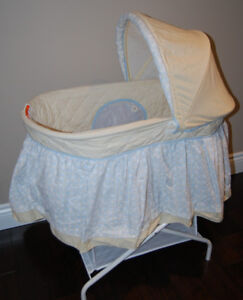 Delta Travel Bassinet for Baby AND Jolly Jumper Crib Wedge