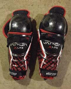 Bauer Vapor LTX shin knee guards 10 inches