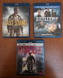 The Last Stand, Battleship, Dredd.